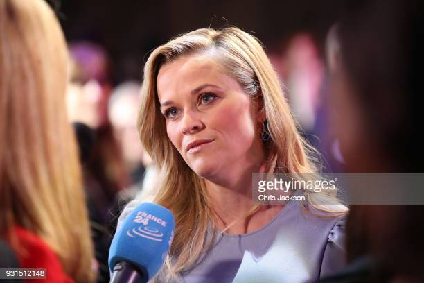 Reese Witherspoon attends the European premiere of Disney's 'A Wrinkle In Time' at BFI IMAX on March 13 2018 in London England