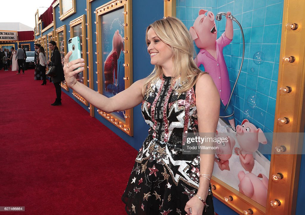 Reese Witherspoon attends the premiere Of Universal Pictures' 'Sing' on December 3, 2016 in Los Angeles, California.