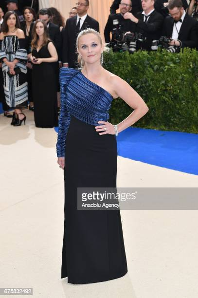 Reese Witherspoon attends the 'Rei Kawakubo / Comme des Garcons Art Of The InBetween' Costume Institute Gala 2017 at Metropolitan Museum of Art in...