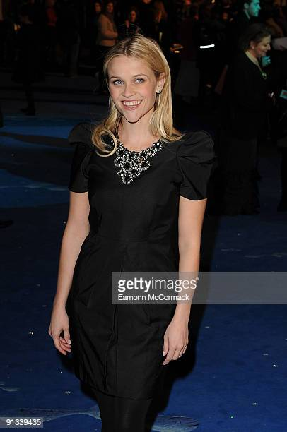 Reese Witherspoon attends the UK Premiere of Monsters vs Aliens at Vue West End on March 11 2009 in London England