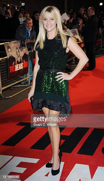 Reese Witherspoon attends the UK premiere of This Means War at ODEON Kensington on January 30, 2012 in London, England.