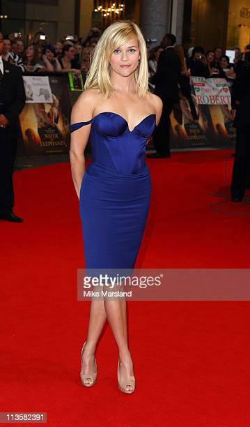 Reese Witherspoon attends the UK premiere of Water for Elephants at Vue Westfield on May 3 2011 in London England