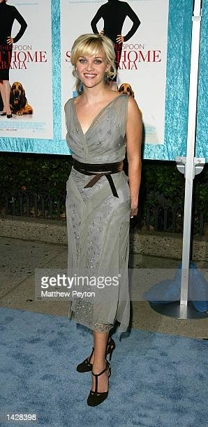 Reese Witherspoon attends the world premiere of Touchstone Pictures' 'Sweet Home Alabama' at the Chelsea West Cinema September 23 2002 in New York...