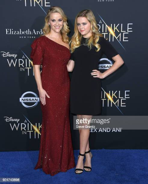 Reese Witherspoon Ava Phillippe arrives at the Premiere Of Disney's A Wrinkle In Time on February 26 2018 in Los Angeles California