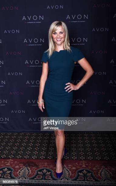Reese Witherspoon backstage at annual Avon conference at Bally's Hotel and Casino in Las Vegas NV