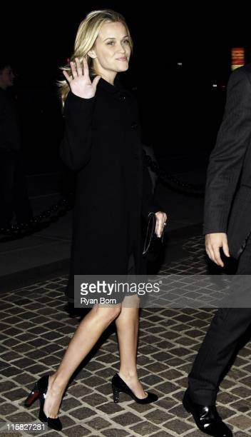 Reese Witherspoon during The Cinema Society Zenith Watches Host Screening of 'Flags of our Fathers' Outside Arrivals at Tribeca Grand Hotel Grand...