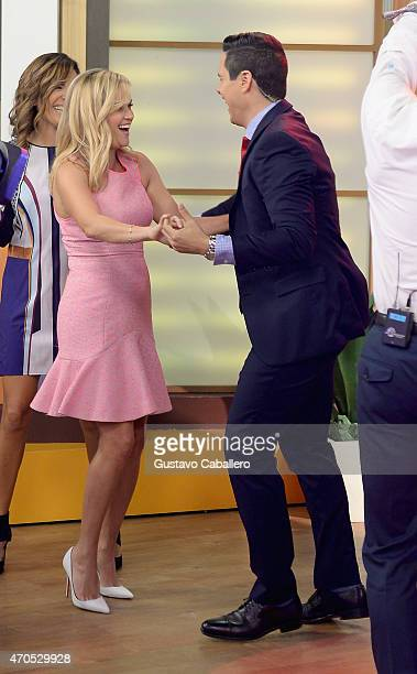 """Reese Witherspoon is on The Set Of """"Despierta America"""" to promote the film """"Hot Pursuit"""" at Univision Studios on April 21, 2015 in Miami, Florida."""