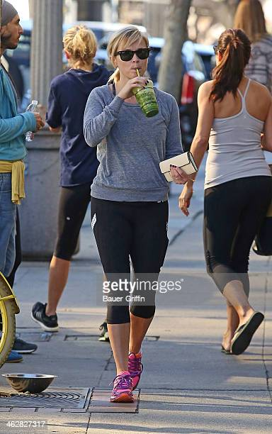 Reese Witherspoon is seen after her morning workout on January 15 2014 in Los Angeles California