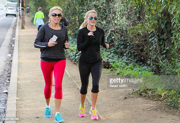 Reese Witherspoon is seen going for a run on January 19 2016 in Los Angeles California