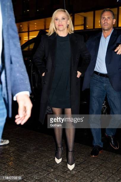 Reese Witherspoon is seen in Midtown on October 29 2019 in New York City