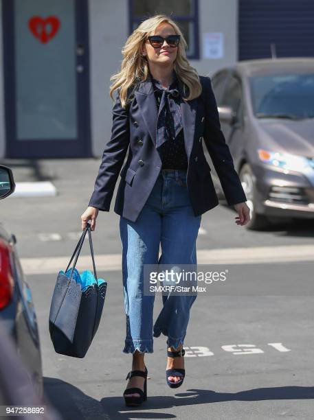 Reese Witherspoon is seen on April 16 2018 in Los Angeles CA