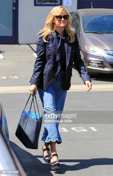 Reese Witherspoon is seen on April 16 2018 in Los Angeles California