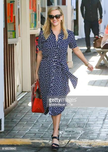 Reese Witherspoon is seen on February 09 2018 in Los Angeles California