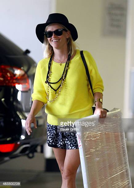 Reese Witherspoon is seen running errands on April 07 2014 in Los Angeles California