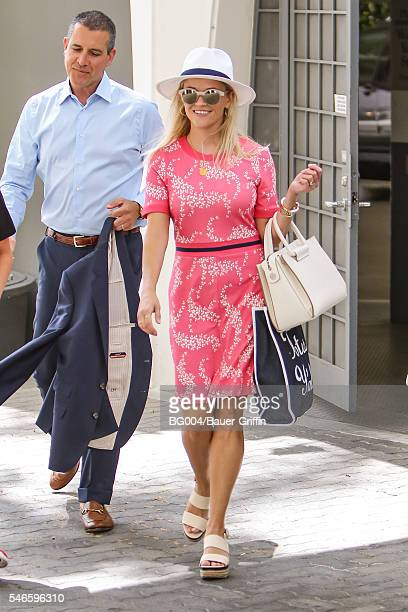 Reese Witherspoon is seen with her husband James Toth on July 12, 2016 in Los Angeles, California.