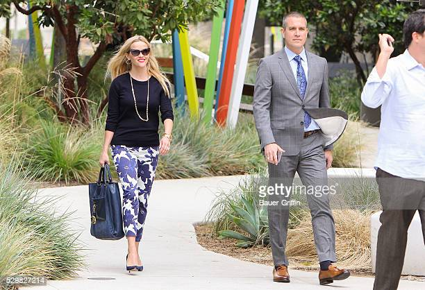 Reese Witherspoon is seen with her husband Jim Toth on May 09, 2016 in Los Angeles, California.