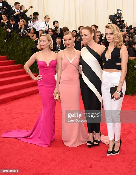 Reese Witherspoon Kate Bosworth Stella McCartney and Cara Delevingne attend the 'Charles James Beyond Fashion' Costume Institute Gala at the...