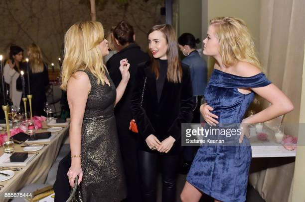 Reese Witherspoon Lily Collins and Ava Phillippe attend Molly R Stern X Sarah Chloe Jewelry Collaboration Launch Dinner on December 4 2017 in West...