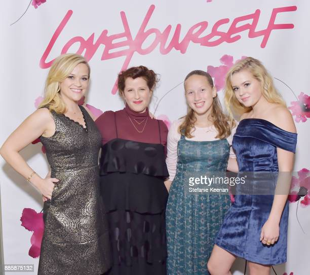 Reese Witherspoon Molly R Stern and Ava Phillippe attend Molly R Stern X Sarah Chloe Jewelry Collaboration Launch Dinner on December 4 2017 in West...