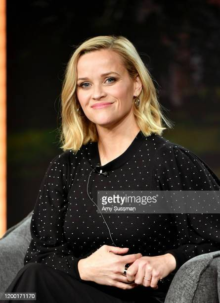 """Reese Witherspoon of """"Little Fires Everywhere"""" speaks during the Hulu segment of the 2020 Winter TCA Press Tour at The Langham Huntington, Pasadena..."""