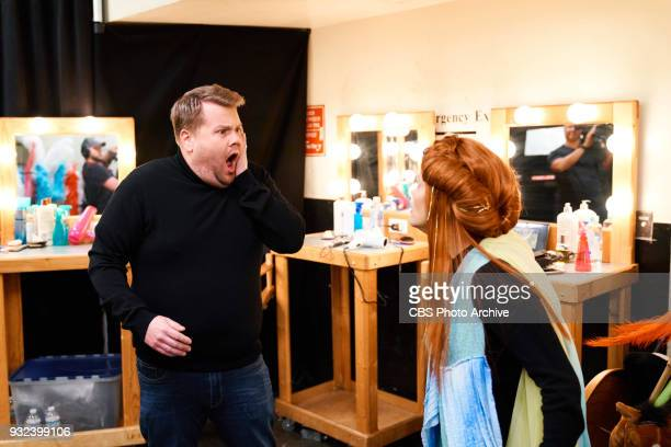 Reese Witherspoon performs in the sketch Wrinkle In Time 4D with James Corden during 'The Late Late Show with James Corden' Monday March 12 2018 On...