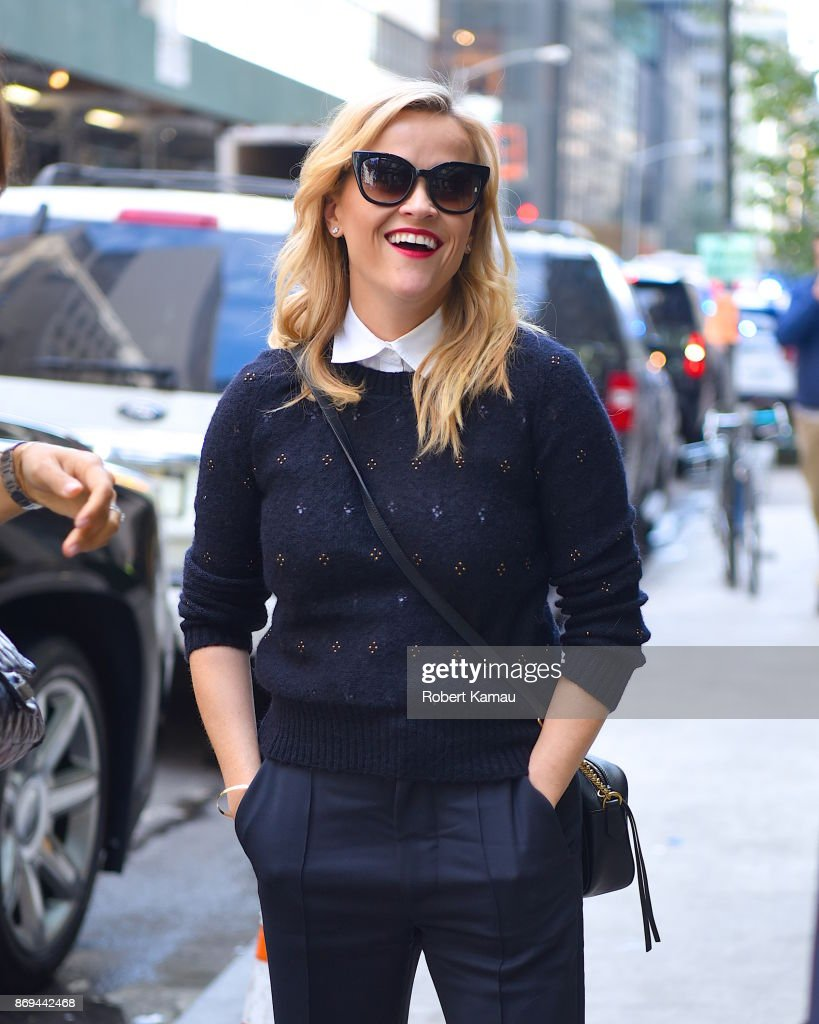 Reese Witherspoon seen out and about in Manhattan on November 2, 2017 in New York City.