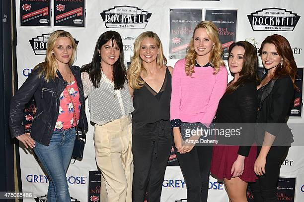 Reese Witherspoon Selma Blair Sarah Michelle Gellar Molly McCook Emma Hunton and Katie Stevens attend The Unauthorized Musical Parody Of Cruel...