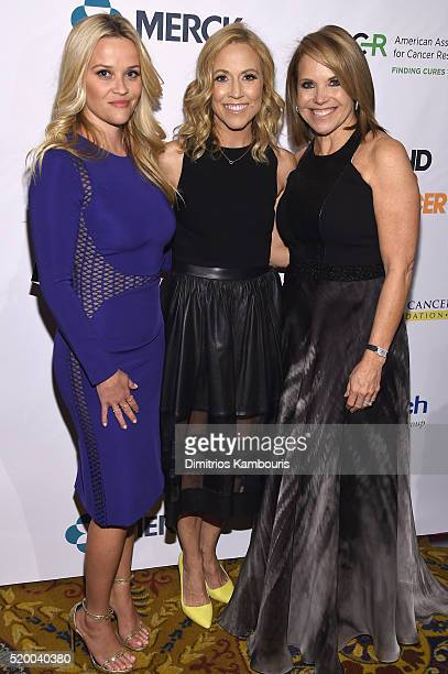 Reese Witherspoon Sheryl Crow and Katie Couric attend Stand Up To Cancer's New York Standing Room Only presented by Entertainment Industry Foundation...