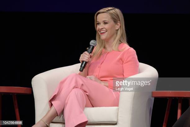 Reese Witherspoon speaks at the firstever #SheIsEqual Summit cohosted by three leading organizations PG Global Citizen and the ANA #SeeHer initiative...