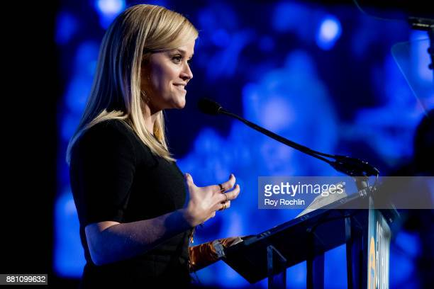 Reese Witherspoon speaks onstage during IFP's 27th Annual Gotham Independent Film Awards at Cipriani Wall Street on November 27 2017 in New York City