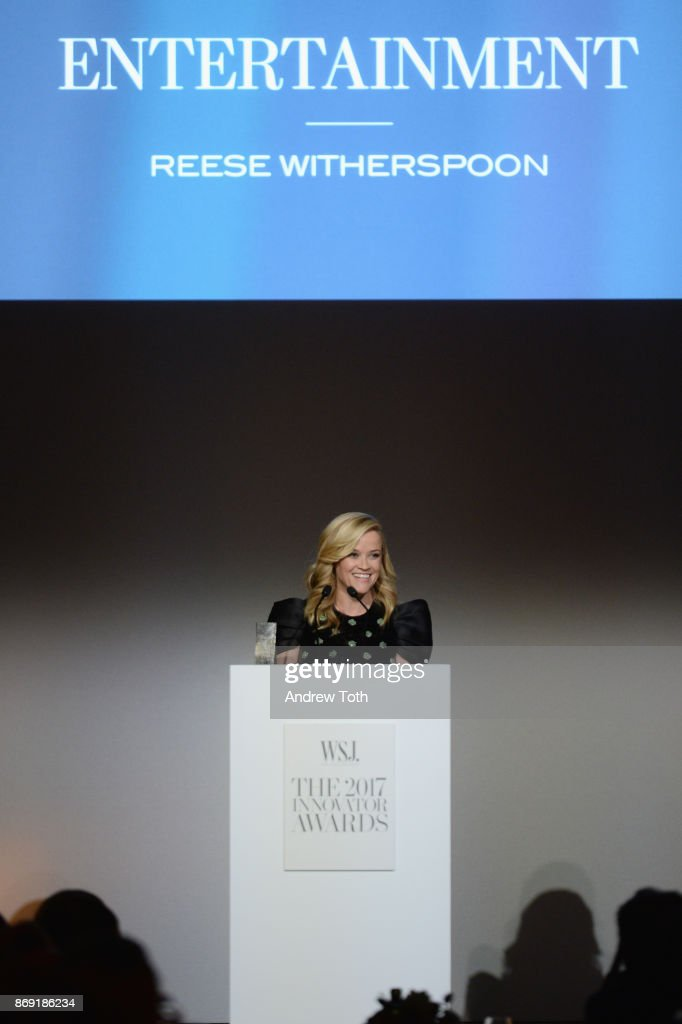 Reese Witherspoon speaks onstage during the WSJ. Magazine 2017 Innovator Awards at MOMA on November 1, 2017 in New York City.