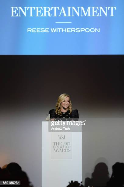 Reese Witherspoon speaks onstage during the WSJ Magazine 2017 Innovator Awards at MOMA on November 1 2017 in New York City