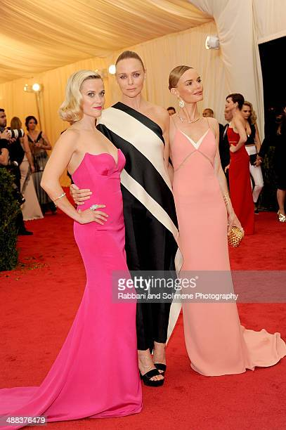 Reese Witherspoon Stella McCartney and Kate Bosworth attend the Charles James Beyond Fashion Costume Institute Gala at the Metropolitan Museum of Art...