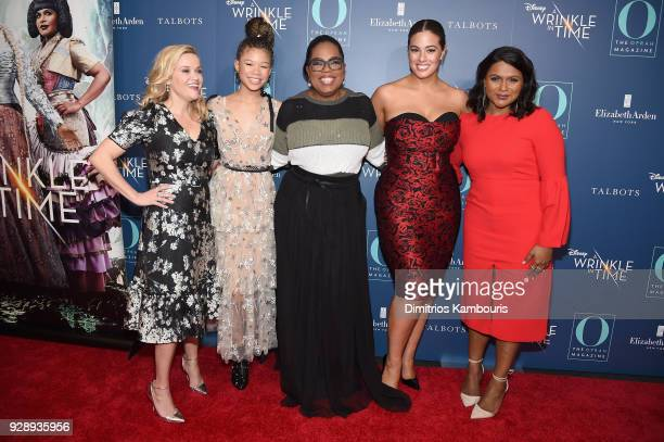 """Reese Witherspoon, Storm Reid, Oprah Winfrey, Ashley Graham and Mindy Kaling attend as O, The Oprah Magazine hosts special NYC screening of """"A..."""