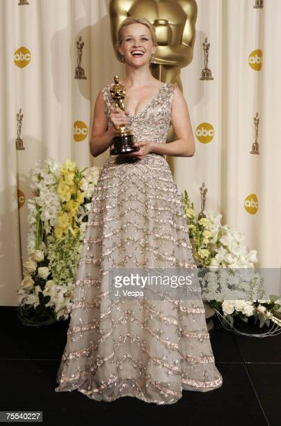 Reese Witherspoon winner Best Actress in a Leading Role for Walk the Line at the Kodak Theatre in Hollywood California