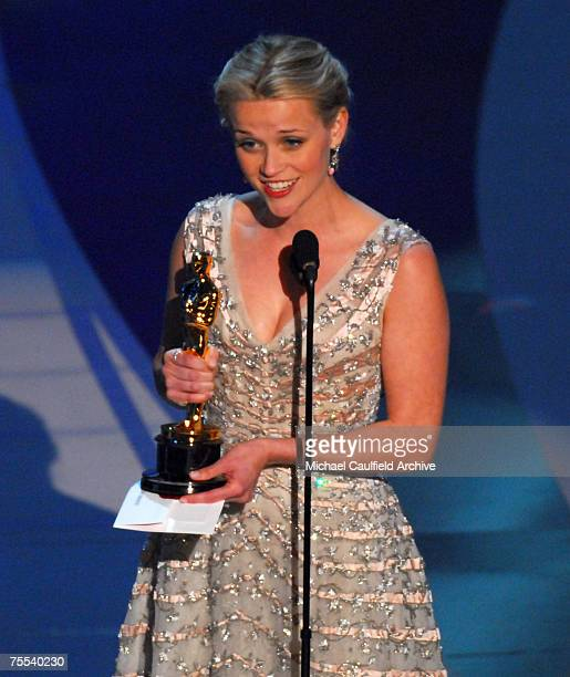 Reese Witherspoon wins award for Performance by an Actress in a Leading Role for Walk in Line at the Kodak Theatre in Hollywood California