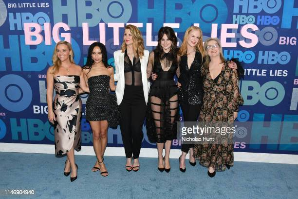 Reese Witherspoon Zoe Kravitz Laura Dern Shailene Woodley Nicole Kidman and Meryl Streep attend the season 2 premiere of Big Little Lies at Jazz at...