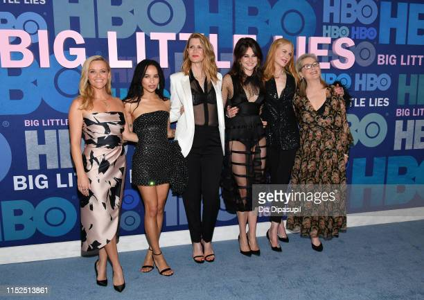 Reese Witherspoon Zoe Kravitz Laura Dern Shailene Woodley Nicole Kidman and Meryl Streep attend the Big Little Lies Season 2 Premiere at Jazz at...