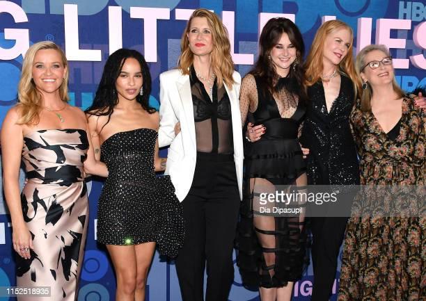 "Reese Witherspoon, Zoe Kravitz, Laura Dern, Shailene Woodley, Nicole Kidman and Meryl Streep attend the ""Big Little Lies"" Season 2 Premiere at Jazz..."