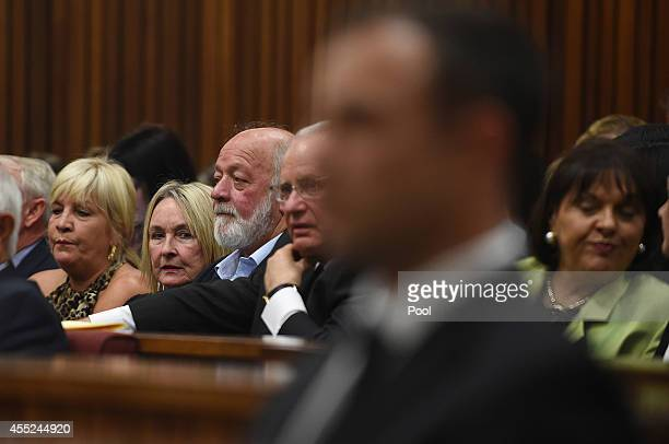 Reeva Steenkamp's parents June and Barry Steenkamp sit in the Pretoria High Court on September 11 in Pretoria, South Africa. South African Judge...