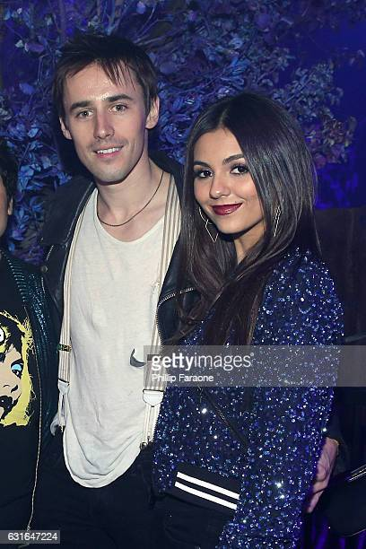 Reeve Carney and Victoria Justice attend Sony's 'Lost in Music' Launch on January 13 2017 in Los Angeles California