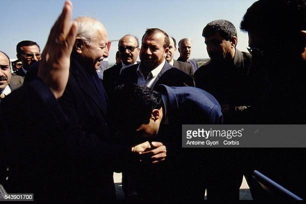 Refah leader N Erbakan with supporters at a party meeting in Adiyaman | Location Adiyaman Turkey