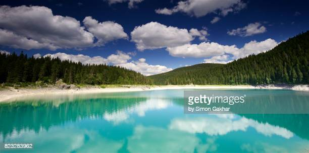 Refection in Black Lake Durmitor National Park Montenegro