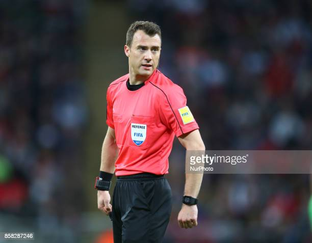 Refeer Felix Zwayer during FIFA World Cup Qualifying European Region Group F match between England and Slovenia at Wembley stadium London 05 Oct 2017