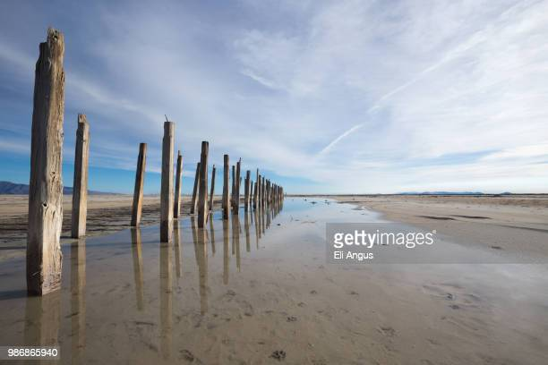 refelctions - great salt lake stock pictures, royalty-free photos & images
