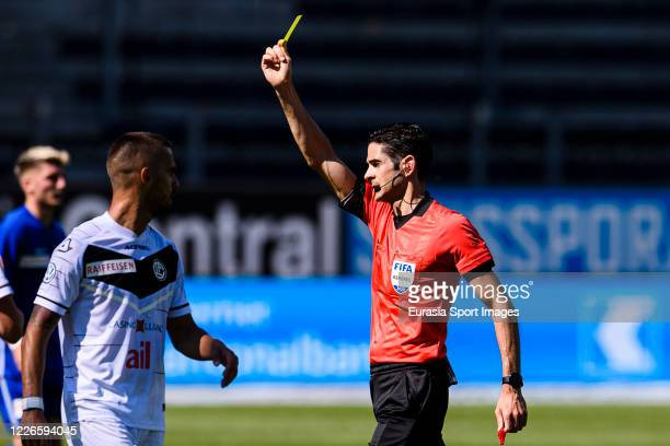 Referee Adrien Jaccottet in action during the Swiss Swiss Raiffeisen Super League match between FC Luzern and FC Lugano at the Swissporarena on July...