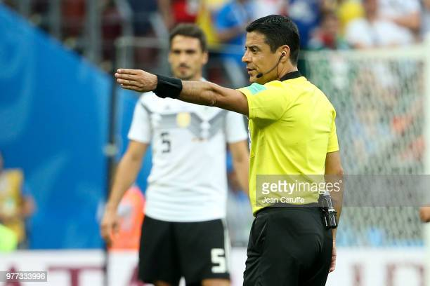 Referee Alireza Faghani of Iran during the 2018 FIFA World Cup Russia group F match between Germany and Mexico at Luzhniki Stadium on June 17 2018 in...