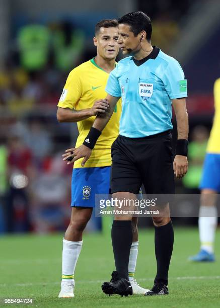 referee Alireza Faghani of Iran during the 2018 FIFA World Cup Russia group E match between Serbia and Brazil at Spartak Stadium on June 27 2018 in...