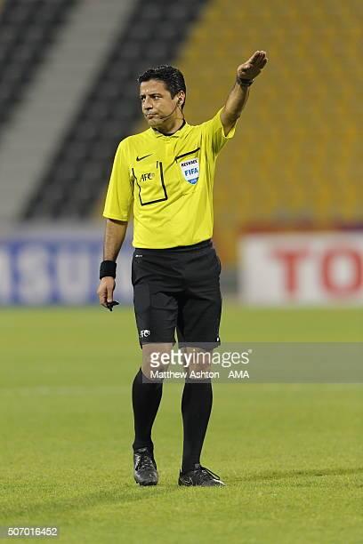 Referee Alireza Faghani of Iran during the AFC U23 Championship quarter final match between South Korea v Jordan at the Suhaim Bin Hamad Stadium on...