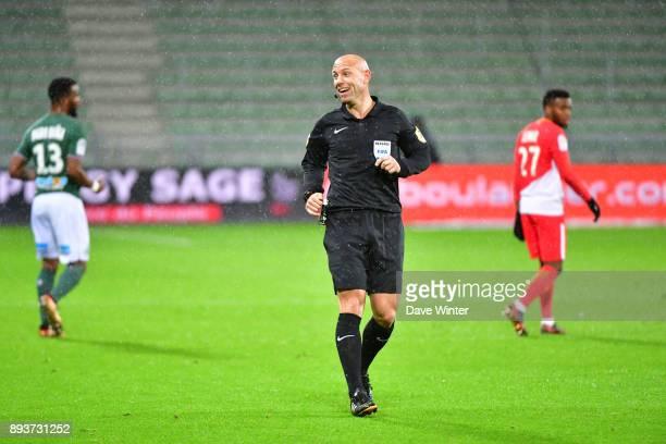 Referee Amaury Delerue during the Ligue 1 match between AS SaintEtienne and AS Monaco at Stade GeoffroyGuichard on December 15 2017 in SaintEtienne...